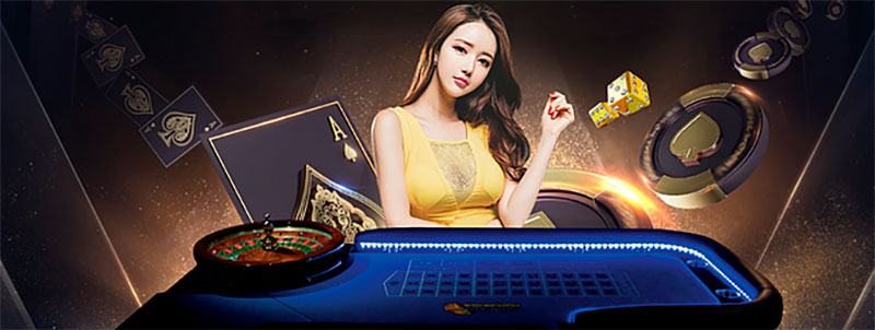 Pretty girl playing roulette